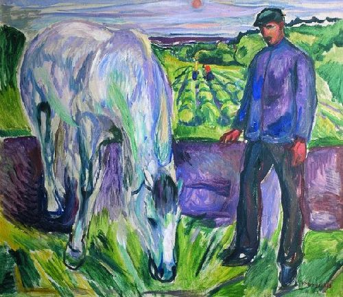 Edvard-Munch Man-with-Horse