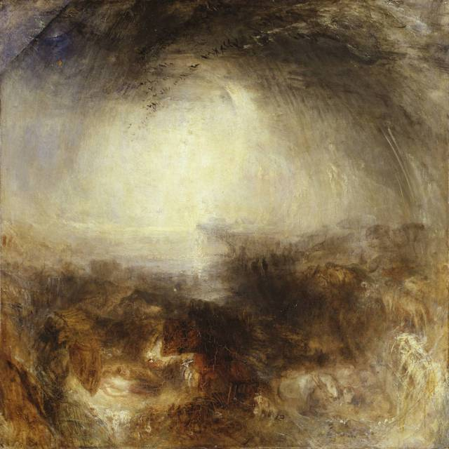 Shade and Darkness - the Evening of the Deluge exhibited 1843 by Joseph Mallord William Turner 1775-1851