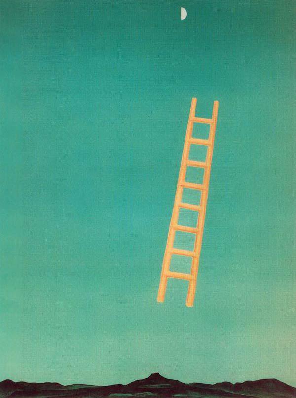 Ladder to the moon, georgia o'keeffe
