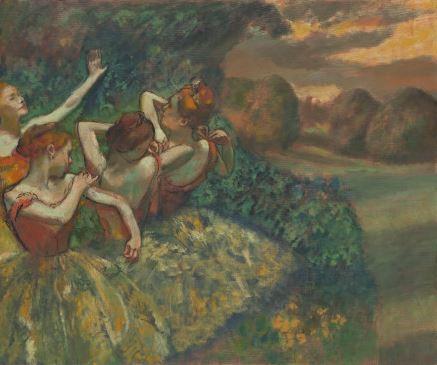 Edgar Degas quatre danseuses
