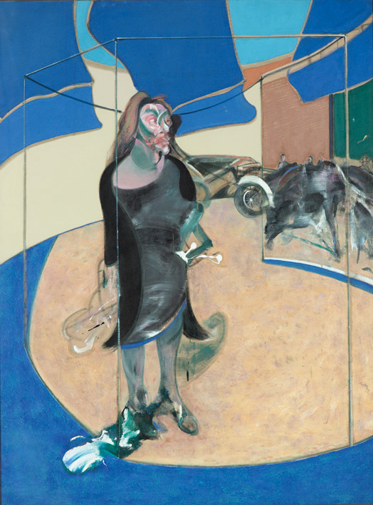 francis bacon portrait of Isabel rawsthorne standing in a street in soho