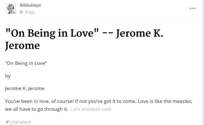 on being in love