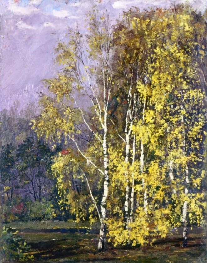 1882 Birch Trees in the Autumn oil on cardboard 39 x 31 cm Private Collection