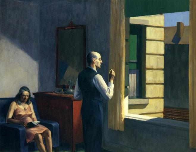Hopper Hotel by a Railroad