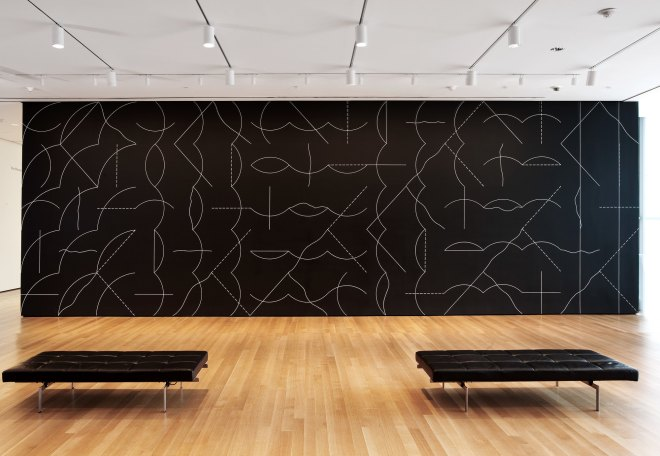 sol lewitt wall drawing 260 1975 chalk on painted wall dimensions variable